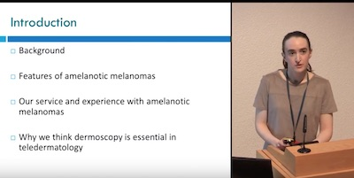 The benefits of teledermoscopy for diagnosis and prioritisation of amelanotic melanomas