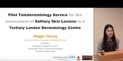 An Audit Of A Pilot Teledermatology Service For The Assessment Of Solitary Skin Lesions In A Tertiary Dermatology Centre
