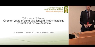 Tele-Derm National: Ten years of store-and-forward teledermatology for rural and remote Australia