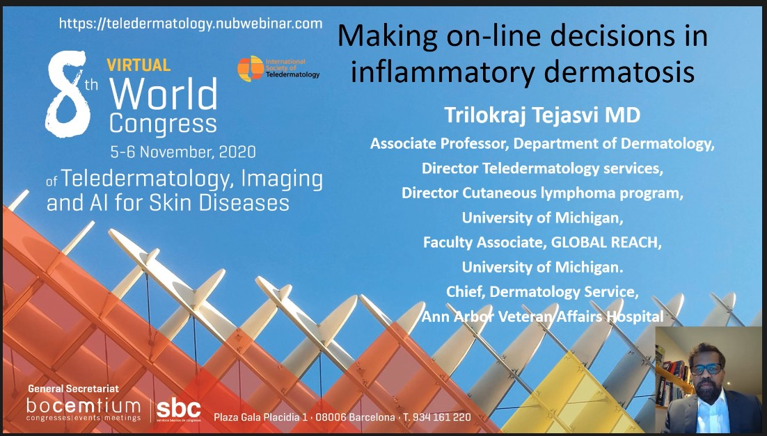 Making on-line decisions in inflammatory dermatosis