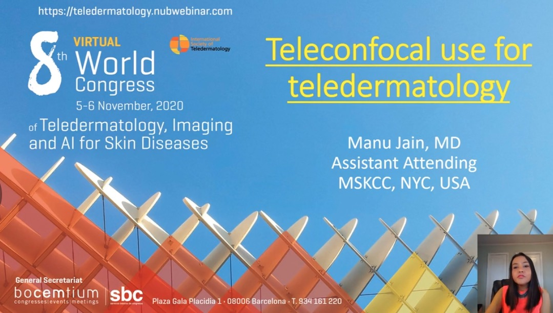 Teleconfocal use for teledermatology